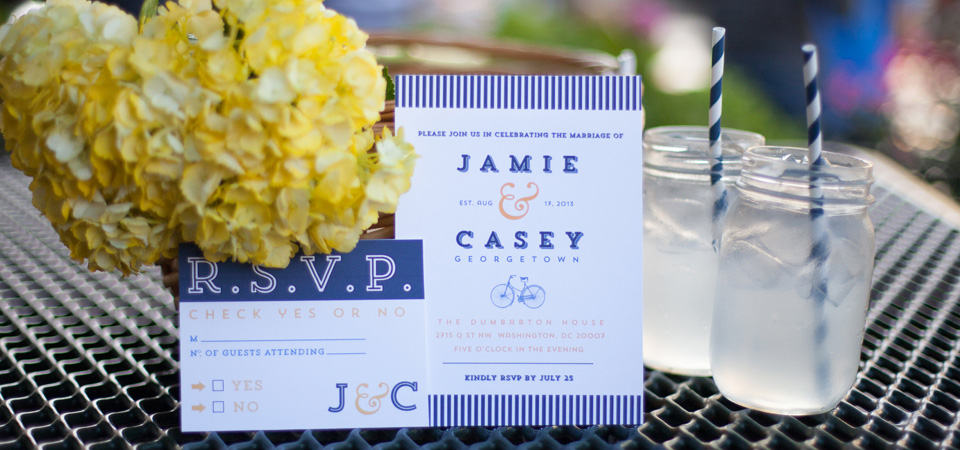custom wedding invitations giveaway DC MD VA