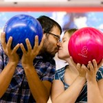 Lisa & Chris' Bowling Alley Engagement in Maryland