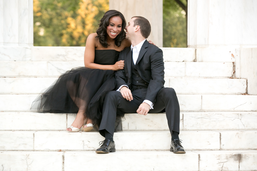 Washington DC war memorials engagement pictures