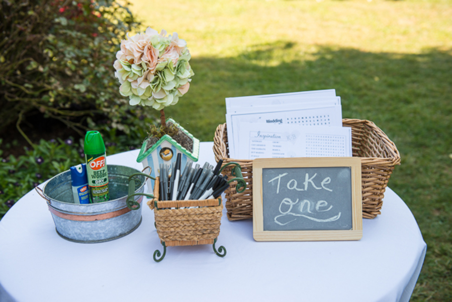 DIY maryland wedding details