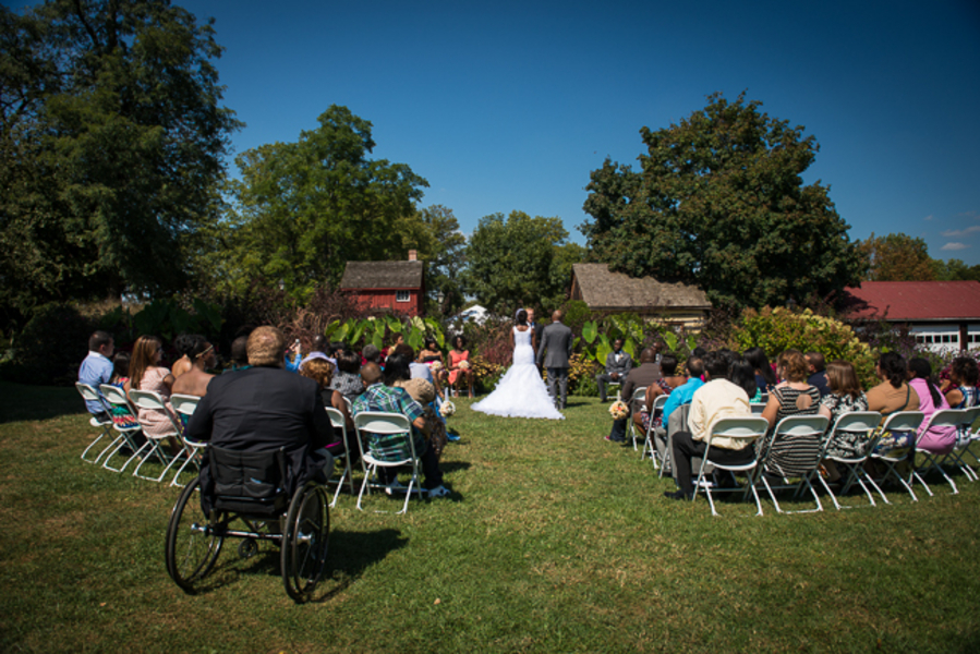 outdoor maryland wedding ceremony woodlawn manor