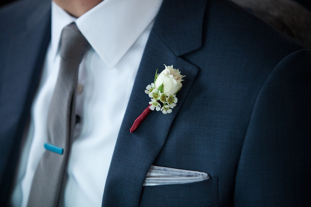 modern dc groom boutonniere