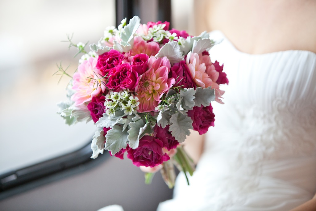 modern DC bridal bouquet