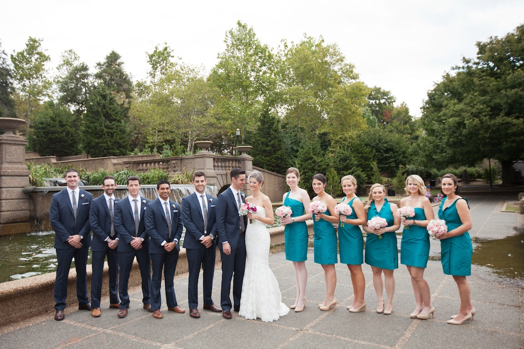 modern teal Washington DC wedding Westin Georgetown