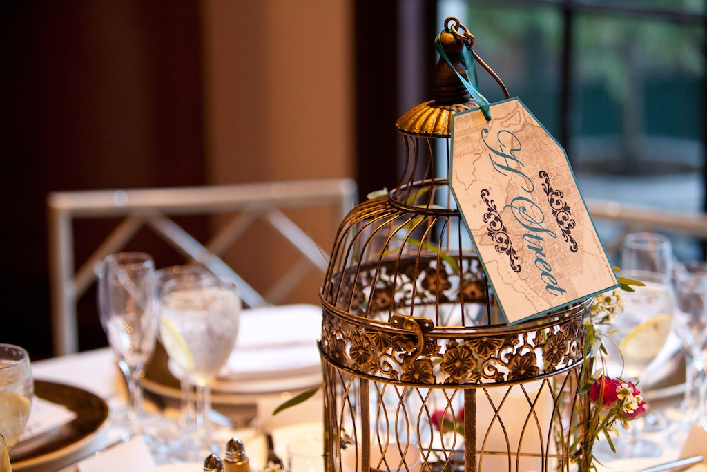 modern vintage DC wedding centerpieces