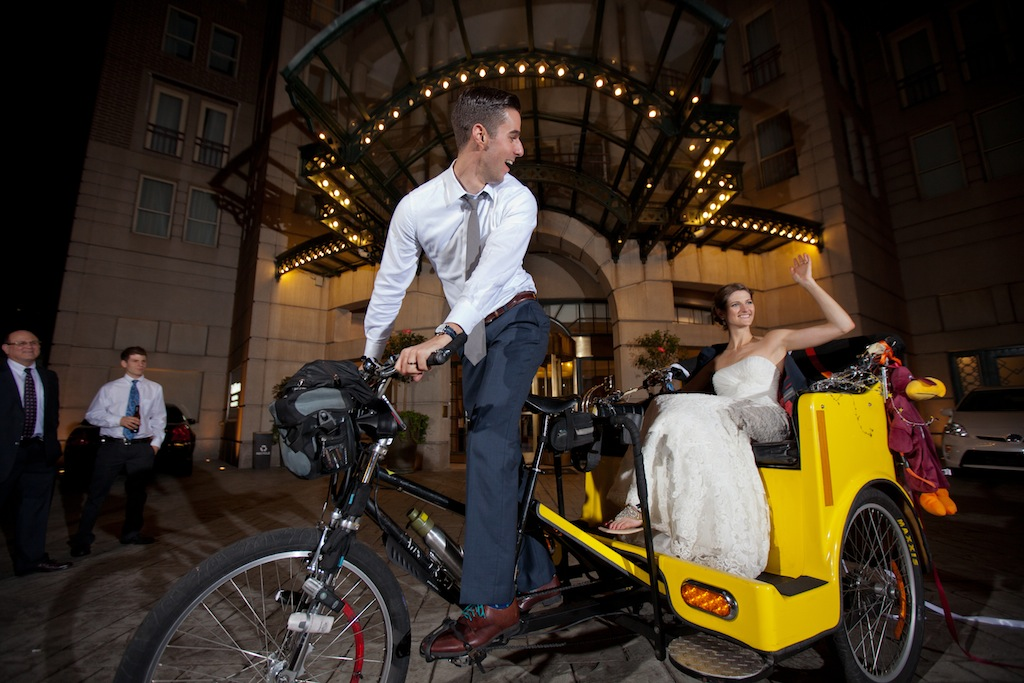 modern dc wedding pedicabs