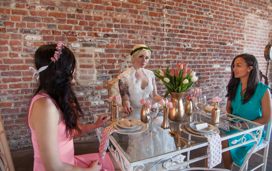 edgy eclectic bridal shower inspiration