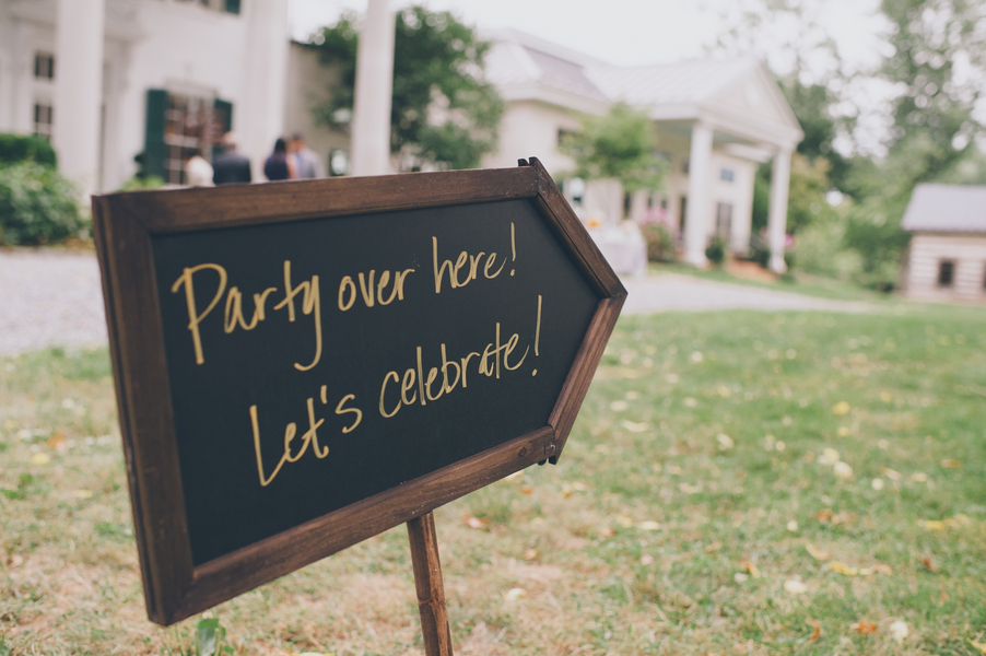 DIY fun wedding signs