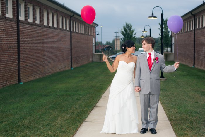 DIY offbeat Virginia wedding red purple
