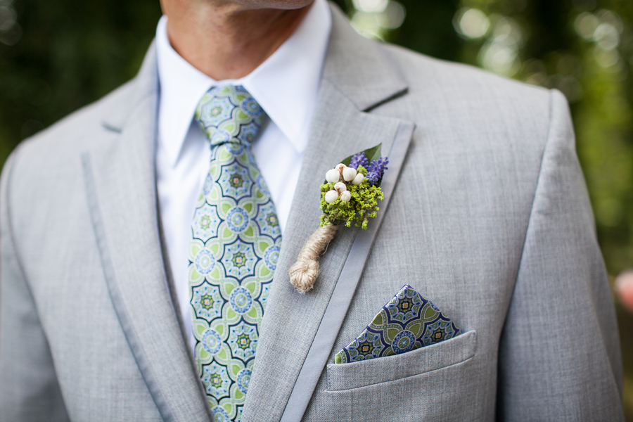 whimsical rustic boutonniere