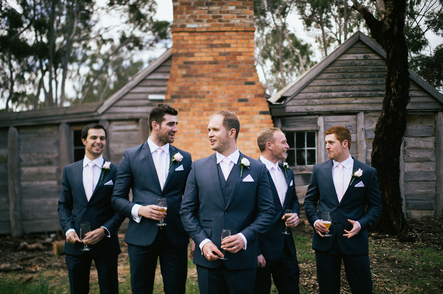 simple black groomsmen suits