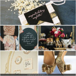 Glitz & Glitter New Years Wedding Inspiration & Color Palette