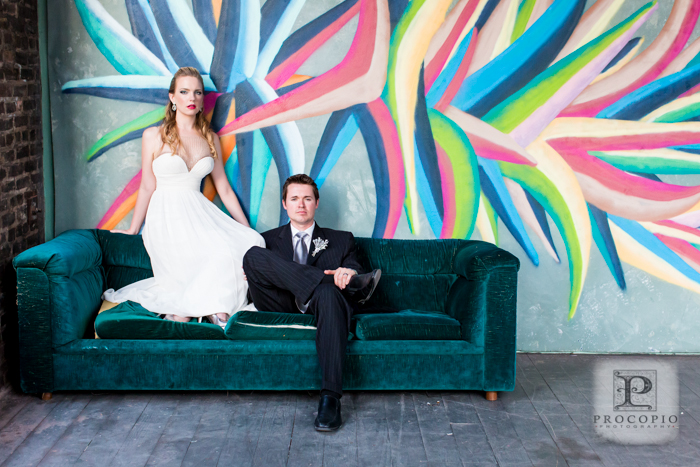 industrial graffiti offbeat wedding design