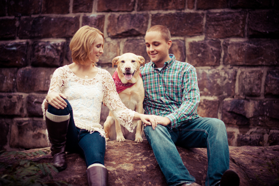 richmond virginia engagement pictures bridge