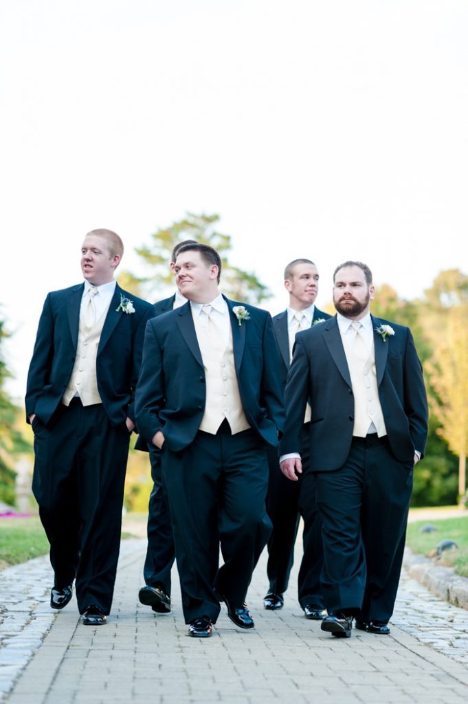 fall intimate groomsmen virginia wedding