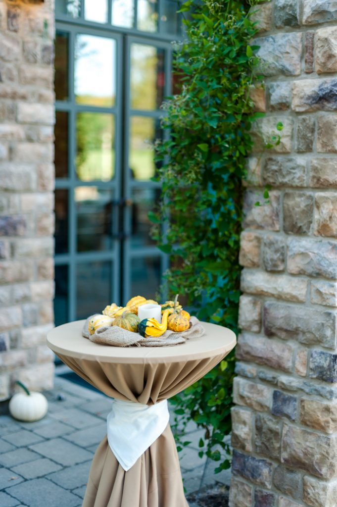 gourds squash fall wedding centerpieces