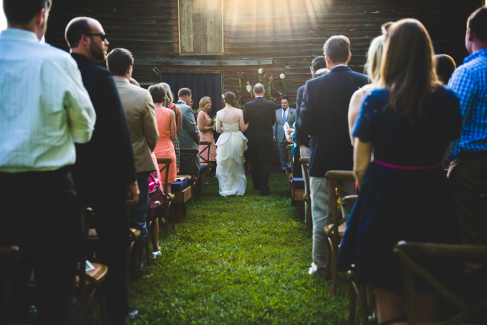 rustic elegance outdoor Virginia farm wedding ceremony
