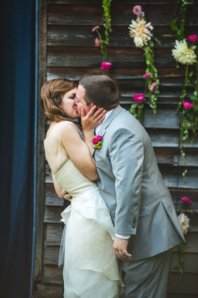 stunning rustic elegance outdoor Virginia wedding ceremony