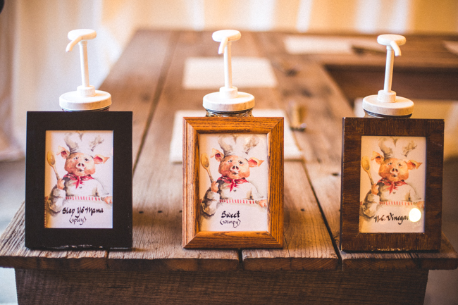 unique BBQ sauce wedding favors