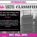 Introducing: Capitol Romance Classifieds – An Easy Way to Buy & Sell Wedding Goods, Locally