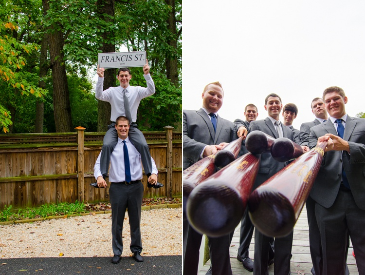 groomsmen with bats