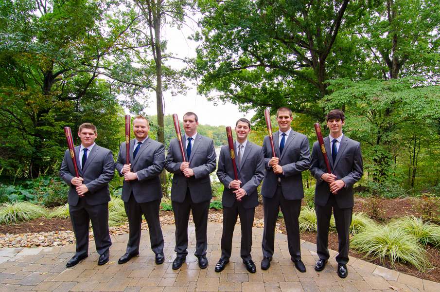 grey suits groomsmen