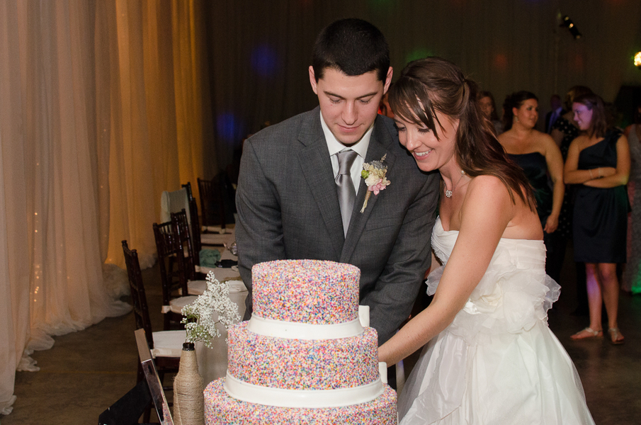 funfetti wedding cake