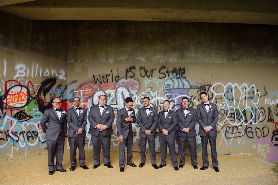 graffiti groomsmen portraits northern virginia wedding