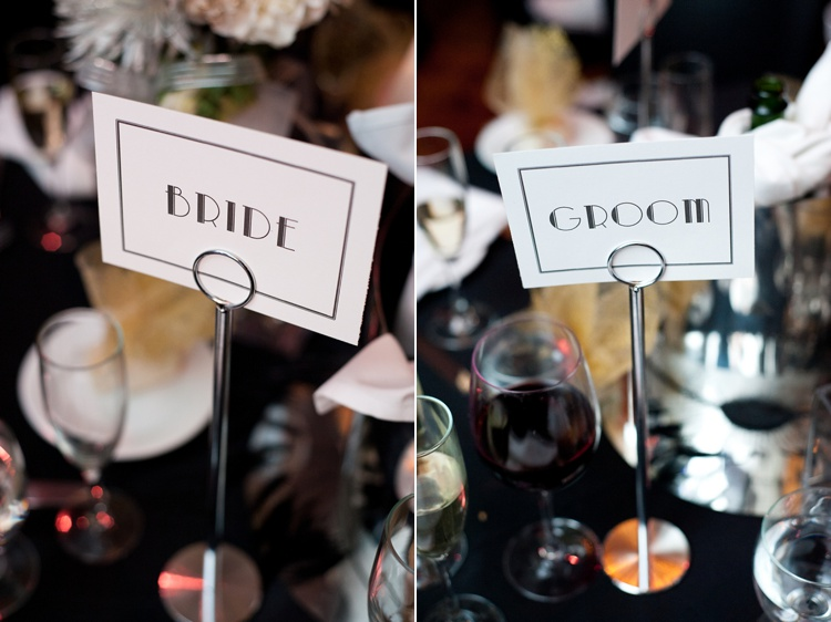 art deco inspired wedding font signs