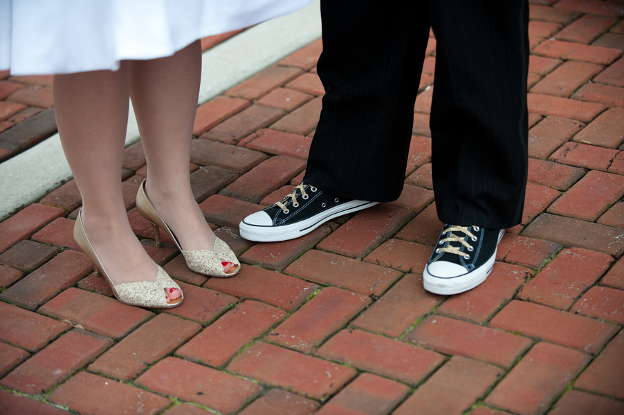 groom in chucks