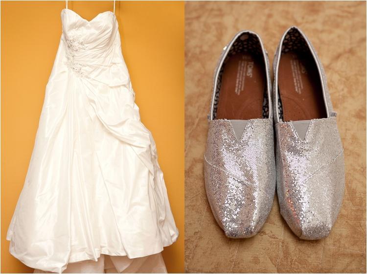 silver glitter toms bride