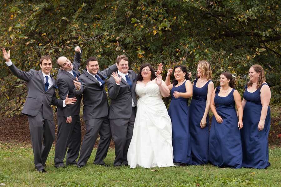 dc themed blue yellow wedding