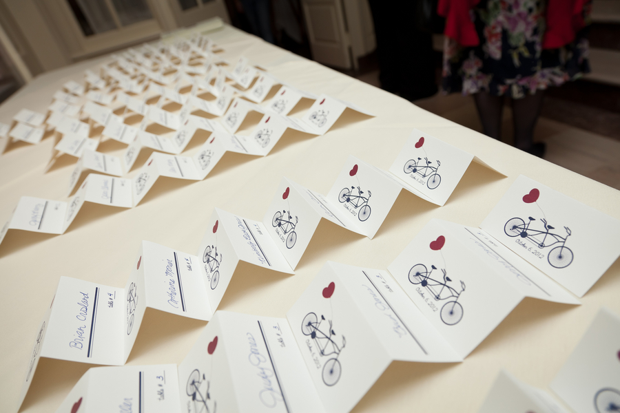 tandem bike escort cards