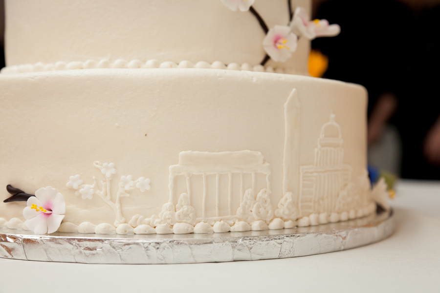 washington dc themed wedding cake