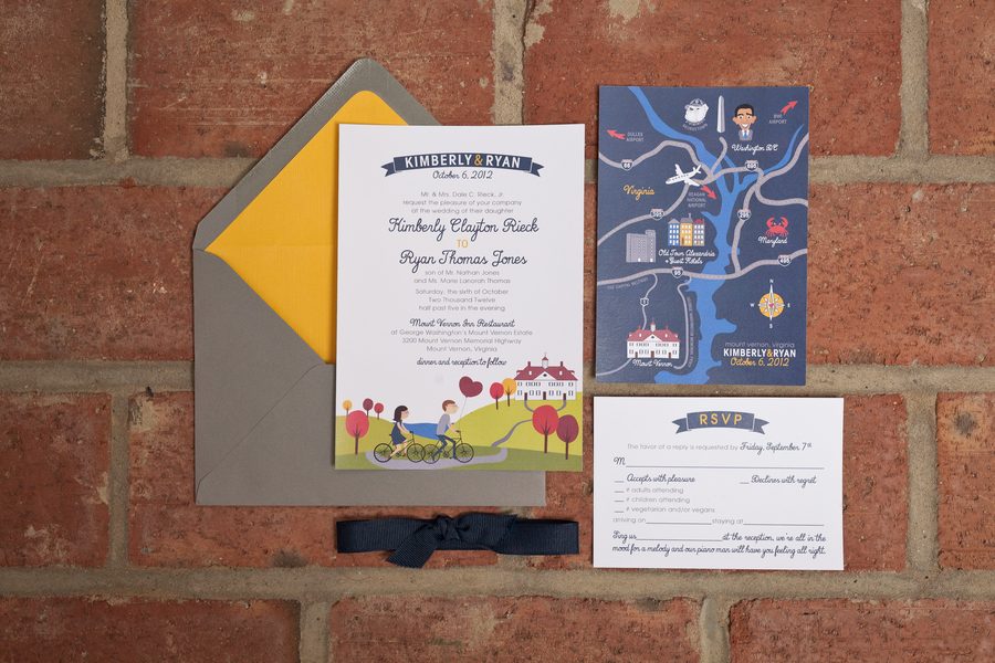 whimsical dc themed wedding invitations