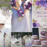 Pantone Violet Tulip Color Wedding Inspiration Board