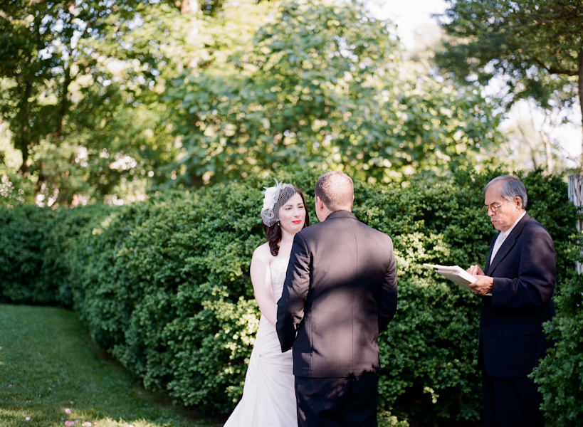 outdoor garden alexandria virginia wedding ceremony