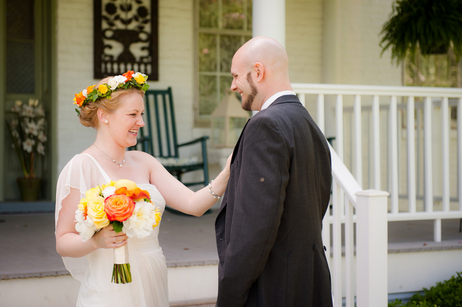 whitehall manor orange yellow virginia wedding
