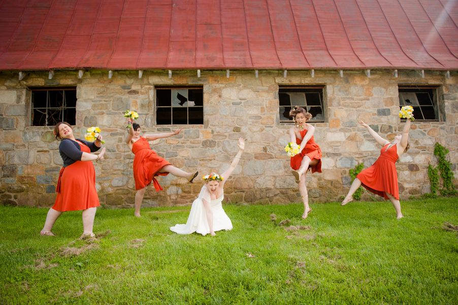 nontraditional fun bridesmaids portrait pictures