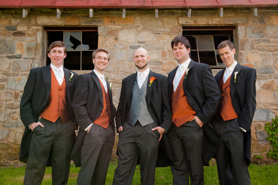 groomsmen charcoal suits