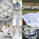 Pantone Placid Blue Color Wedding Inspiration Board