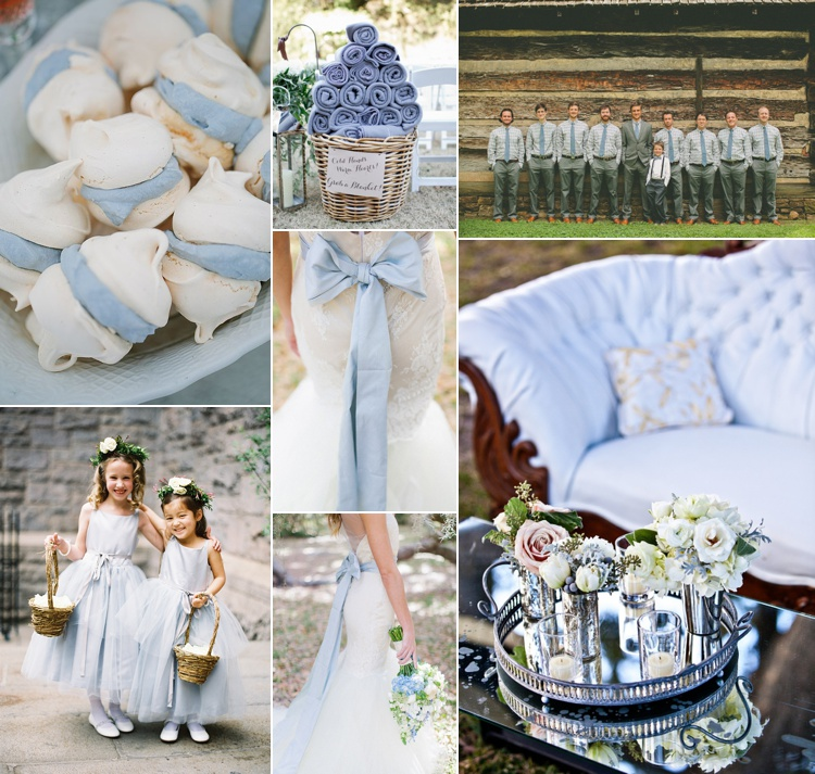 pantone placid blue wedding inspiration