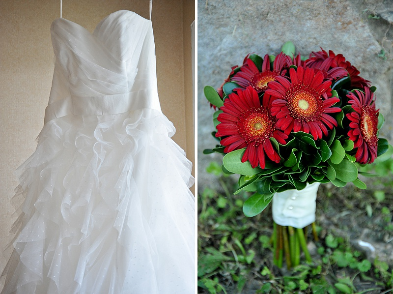 simple maryland farm wedding dress bouquet