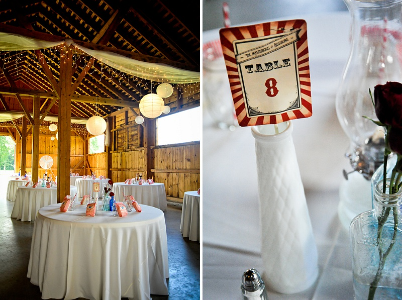 vintage carnival maryland wedding centerpieces