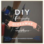 Giveaway: Calligraphy Gift Set & Custom Return Address Stamp from Cozy Cashmere