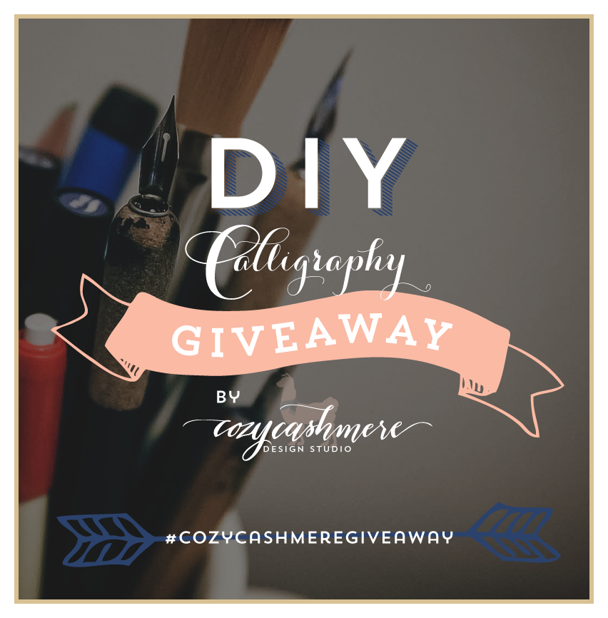 custom calligraphy DIY set return address stamp giveaway