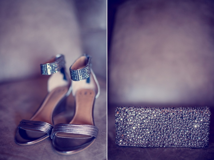 glitter metallic bride shoes