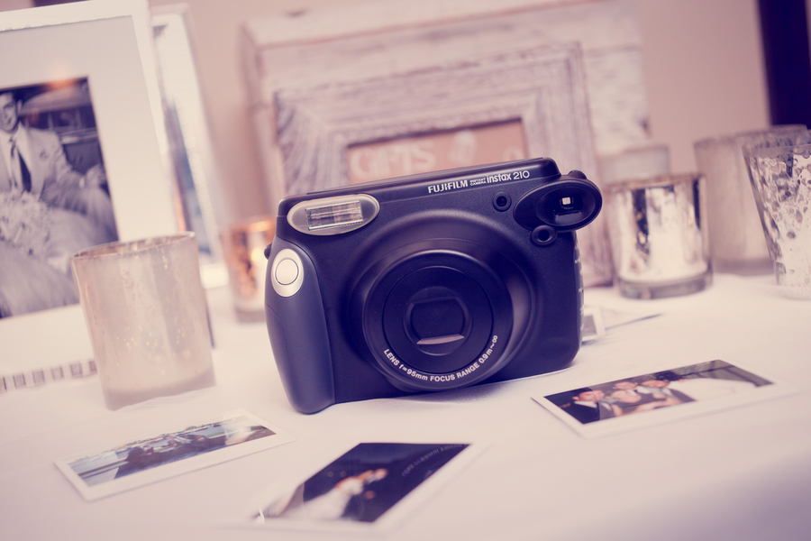 diy fujifilm instax wedding booth