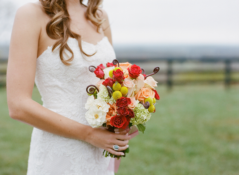 whimsical boho wedding bouquet