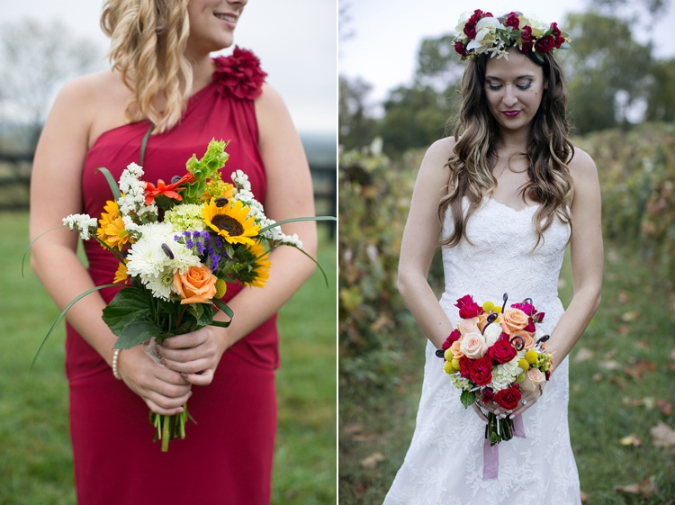 rustic whimsical boho wedding bouquets